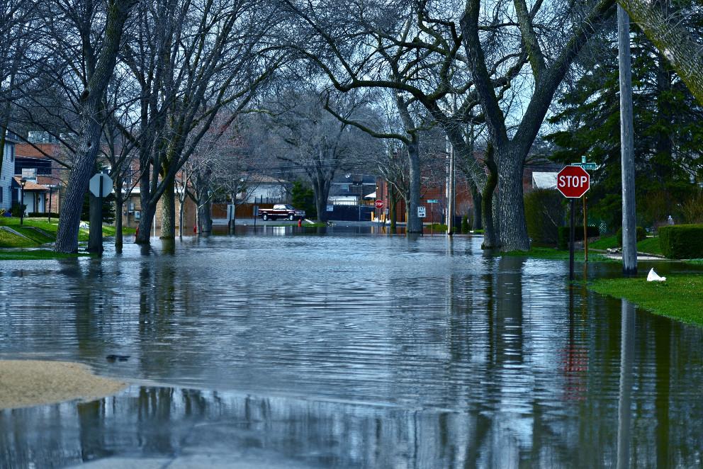Baton Rogue flood damage streets